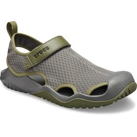 Crocs Swiftwater Mesh Deck Sandaler Herrer, slate grey
